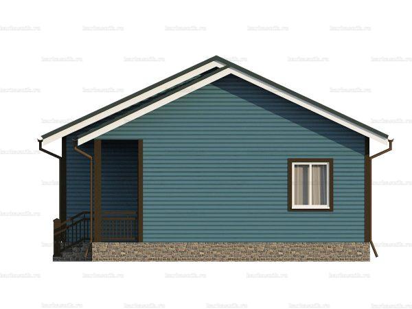 Одноэтажный дом с тремя комнатами 9х8 фото 3