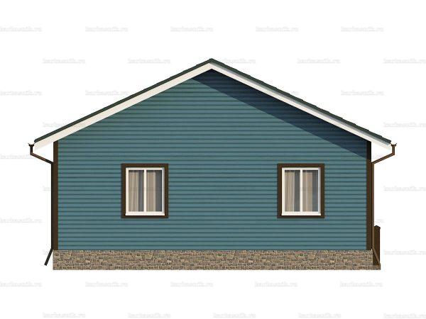 Одноэтажный дом с тремя комнатами 9х8 фото 5