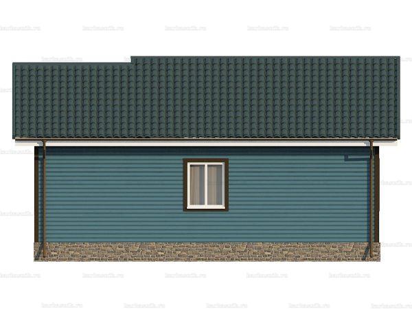 Одноэтажный дом с тремя комнатами 9х8 фото 4