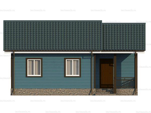 Одноэтажный дом с тремя комнатами 9х8 фото 6