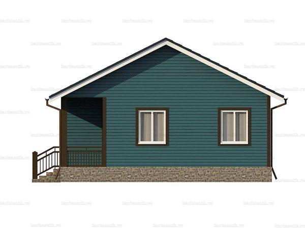Одноэтажный дом с двухскатной крышей 9х7.5 фото 3