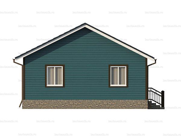 Одноэтажный дом с двухскатной крышей 9х7.5 фото 5