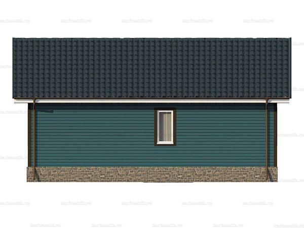 Одноэтажный дом с двухскатной крышей 9х7.5 фото 4