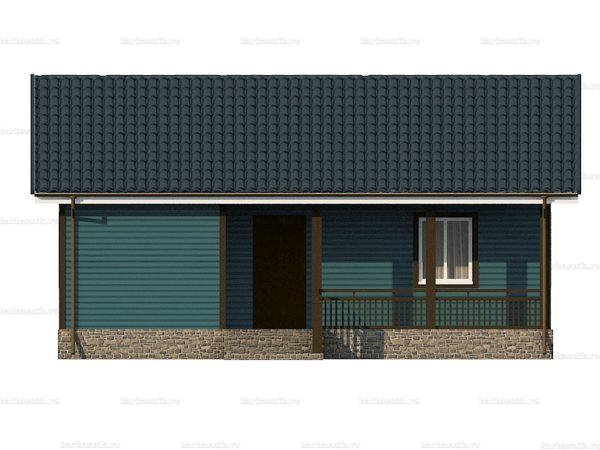 Одноэтажный дом с двухскатной крышей 9х7.5 фото 6