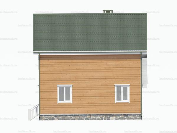 Каркасный дом с навесом 8х8 фото 3
