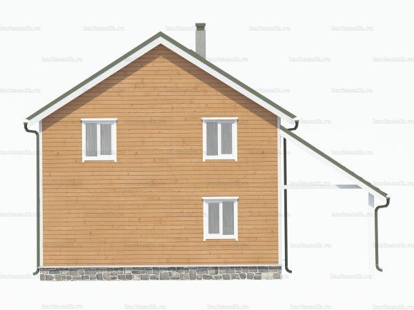Каркасный дом с навесом 8х8 фото 4