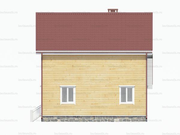 Дом с балконом 8х8 фото 3