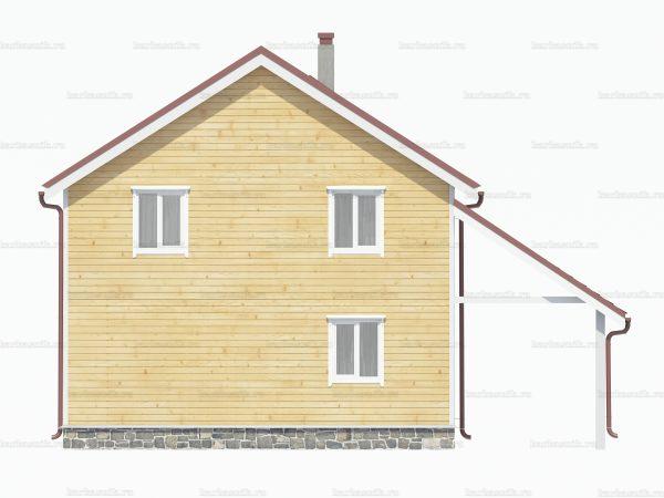 Дом с балконом 8х8 фото 4