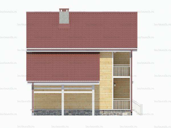 Дом с балконом 8х8 фото 5