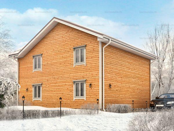 Проект каркасного зимнего дома 10х9 для строительства под ключ