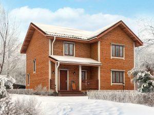 Дом с эркером 10х9
