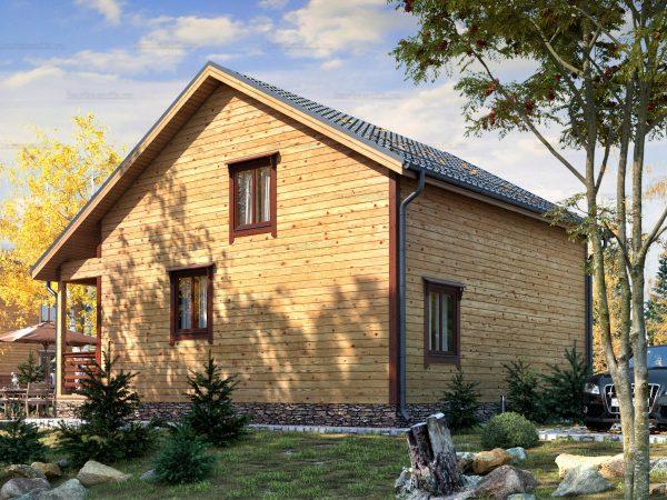 Проект каркасного зимнего дома 9.5х8 для строительства под ключ