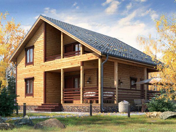 Дом под ключ с балконом 9.5х8