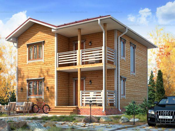 Дом под ключ с вальмовой крышей 8х8