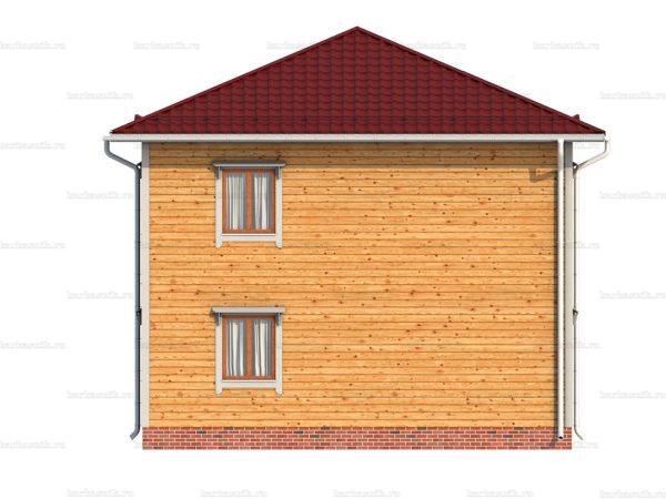 Дом под ключ с вальмовой крышей 8х8 фото 3