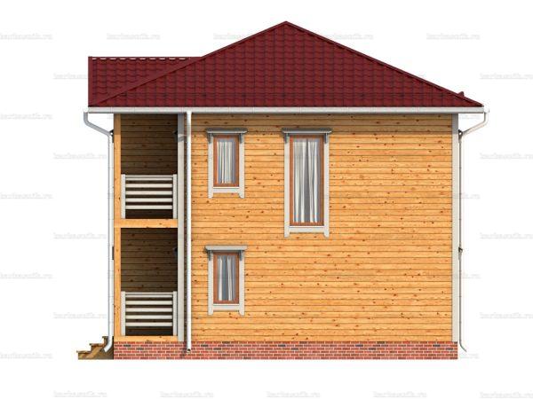 Дом под ключ с вальмовой крышей 8х8 фото 5