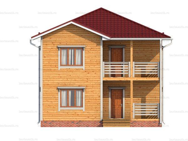 Дом под ключ с вальмовой крышей 8х8 фото 4