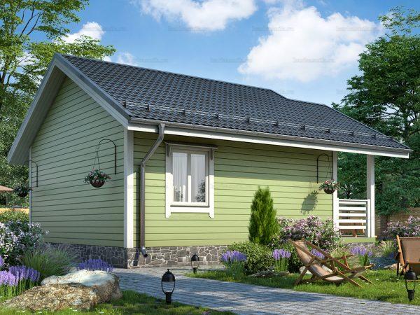 Проект каркасного дачного дома 7.5х6 для строительства под ключ