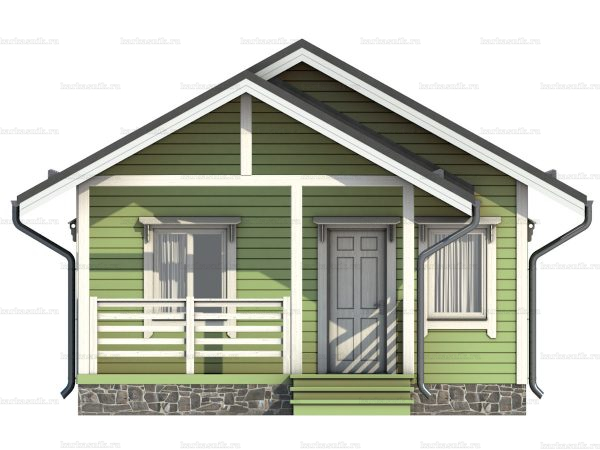 Дом под ключ с террасой 7.5х6 фото 4