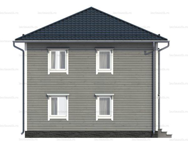 Каркасный дом с вальмовой крышей 8 на 8 фото 5