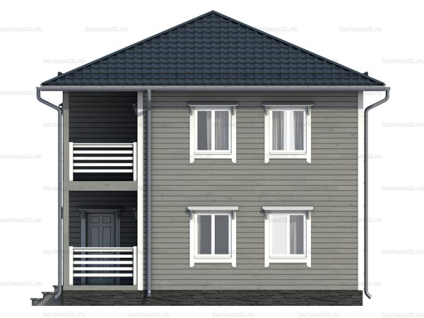 Каркасный дом с вальмовой крышей 8 на 8 фото 6