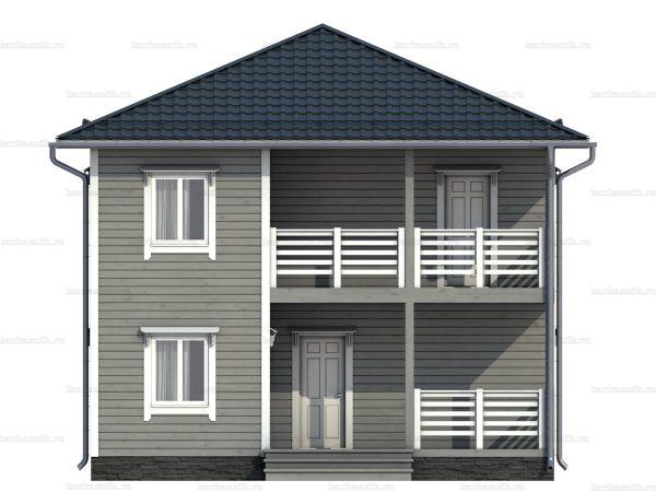 Каркасный дом с вальмовой крышей 8 на 8 фото 4