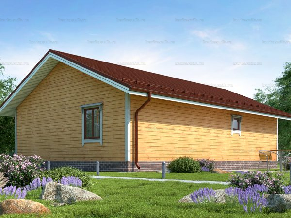Проект каркасного зимнего дома 12х8 для строительства под ключ