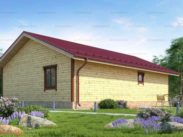 Проект деревянного коттеджа 12х8 из бруса для постоянного проживания зимой