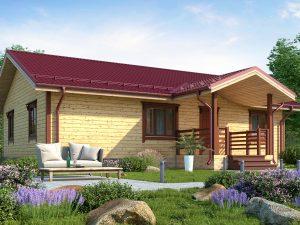 Дом из северного леса 12х8