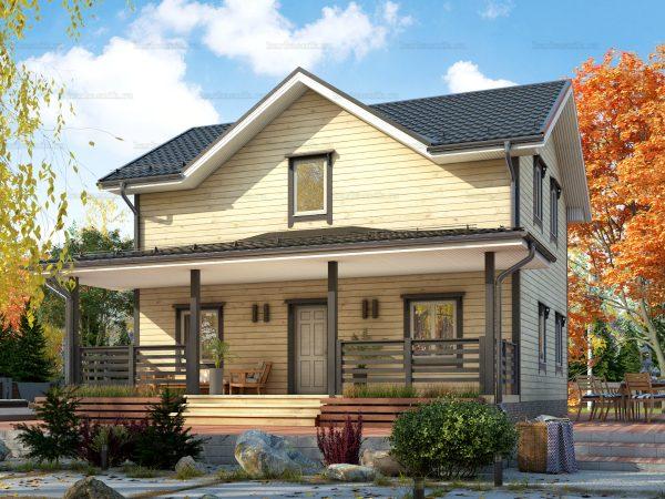 Двухэтажный дом под ключ 9х7.5