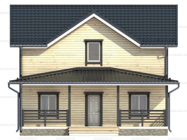 Двухэтажный дом под ключ 9х7.5 фото 3