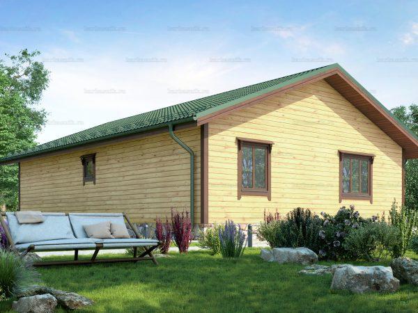 Проект деревянного коттеджа 12х9 из бруса для постоянного проживания зимой