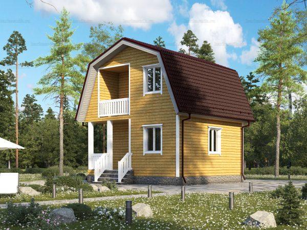 Дом для круглогодичного проживания 6х6