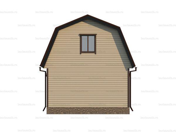 Проект каркасного зимнего дома 6х6 для строительства под ключ