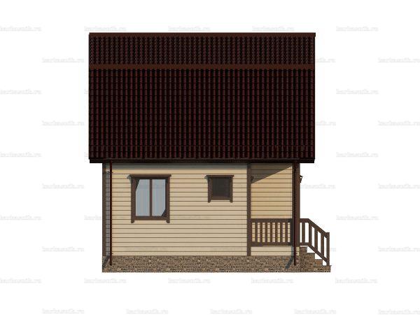 Коттедж под ключ с ломаной крышей 6х6 фото 3