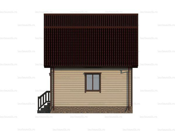 Коттедж под ключ с ломаной крышей 6х6 фото 5