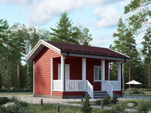Каркасный дом с одной спальней 6х4.5