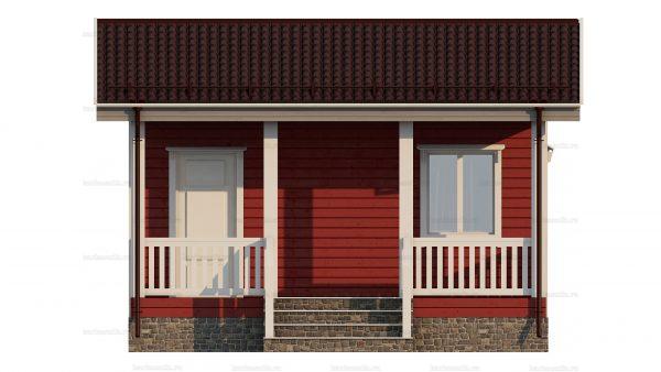 Каркасный дом с одной спальней 6х4.5 фото 3