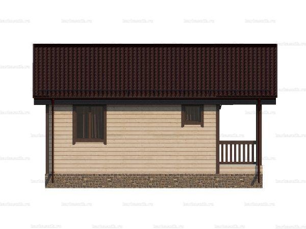 Садовый каркасный домик 6 на 6 фото 3