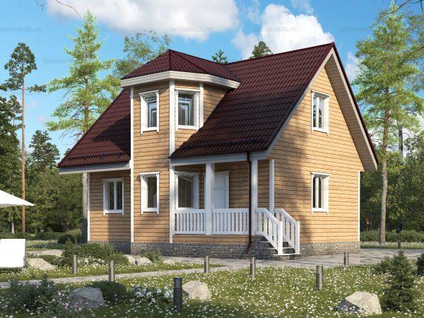 Деревенский брусовой дом 9х7