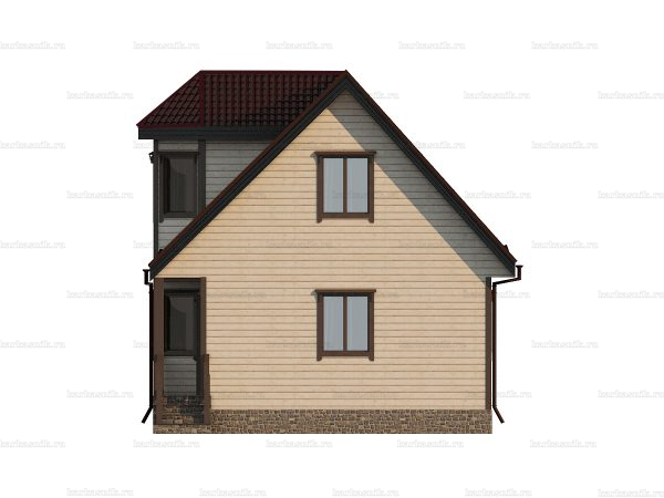 Дом под ключ для проживания 9х7 фото 5