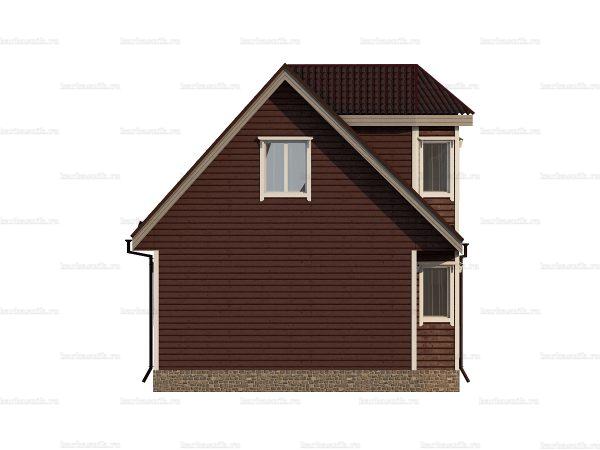 Деревенский брусовой дом 9х7 фото 3