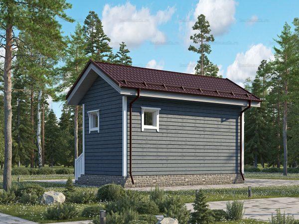 Проект каркасного дачного дома 6х3 для строительства под ключ
