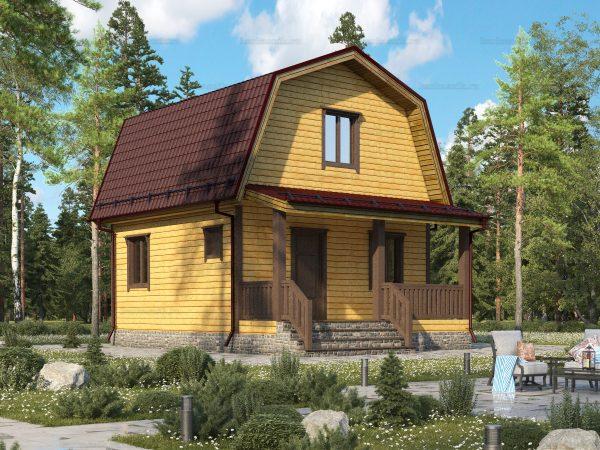 Скандинавский дом 7.5х6