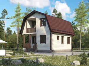 Щитовой дом для зимнего проживания 8х6