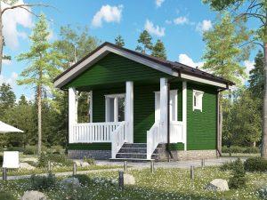 Щитовой дом с террасой 5х4.5