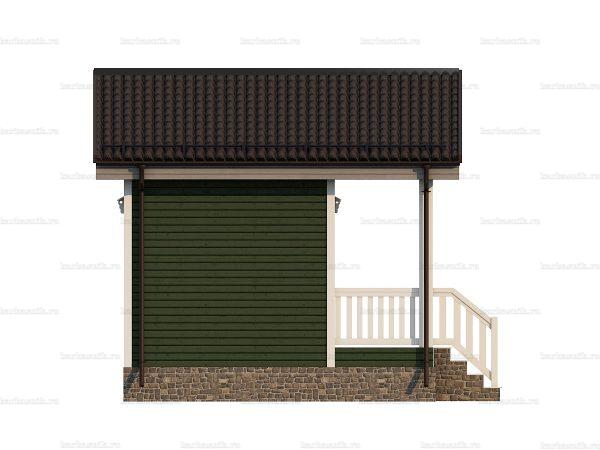 Щитовой дом с террасой 5х4.5 фото 3
