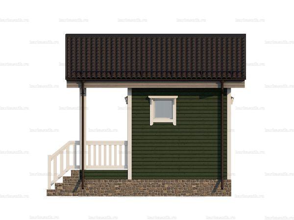 Щитовой дом с террасой 5х4.5 фото 5