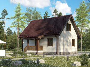 Щитовой дом с мансардой 9х7