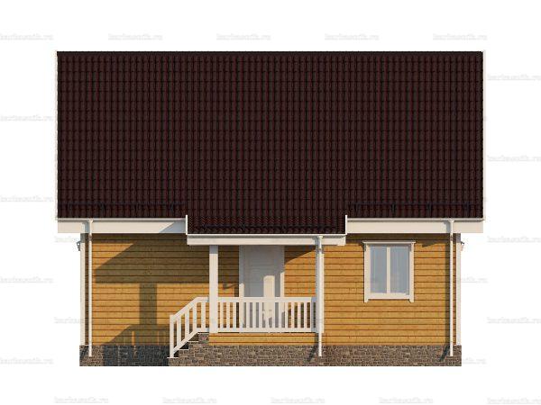 Проект деревянного коттеджа 9х7 из бруса для постоянного проживания зимой